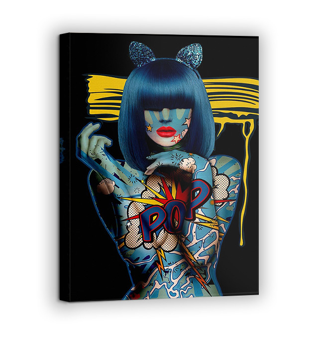 Картина на холсте BEGEMOT Pop-Art Девушки Галерейная натяжка 60х89 см (1110139)