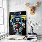 Картина на холсте BEGEMOT Pop-Art Девушки Галерейная натяжка 60х89 см (1110139), фото 3