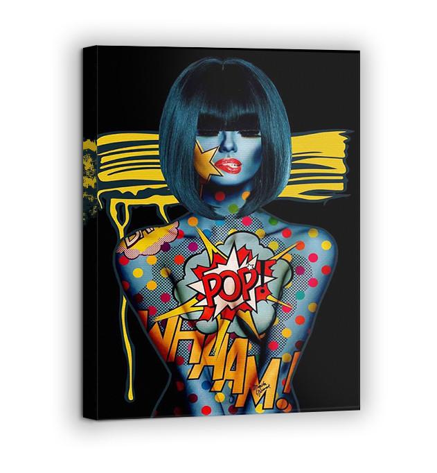 Картина на холсте BEGEMOT Pop-Art Девушки Галерейная натяжка 60х89 см (1110141)