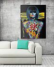Картина на холсте BEGEMOT Pop-Art Девушки Галерейная натяжка 60х89 см (1110141), фото 2