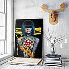 Картина на холсте BEGEMOT Pop-Art Девушки Галерейная натяжка 60х89 см (1110141), фото 3