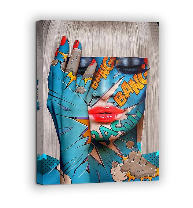 Картина на холсте BEGEMOT Pop-Art Девушки Галерейная натяжка 60х89 см (1110142)
