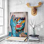 Картина на холсте BEGEMOT Pop-Art Девушки Галерейная натяжка 60х89 см (1110142), фото 3