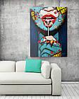 Картина на холсте BEGEMOT Pop-Art Девушки Галерейная натяжка 60х89 см (1110143), фото 2