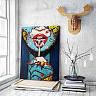Картина на холсте BEGEMOT Pop-Art Девушки Галерейная натяжка 60х89 см (1110143), фото 3