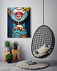 Картина на холсте BEGEMOT Pop-Art Девушки Галерейная натяжка 60х89 см (1110143), фото 4