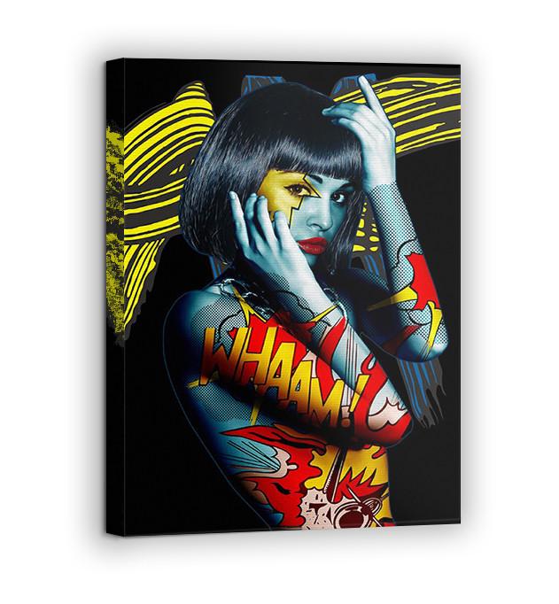 Картина на холсте BEGEMOT Pop-Art Девушки Галерейная натяжка 60х89 см (1110144)