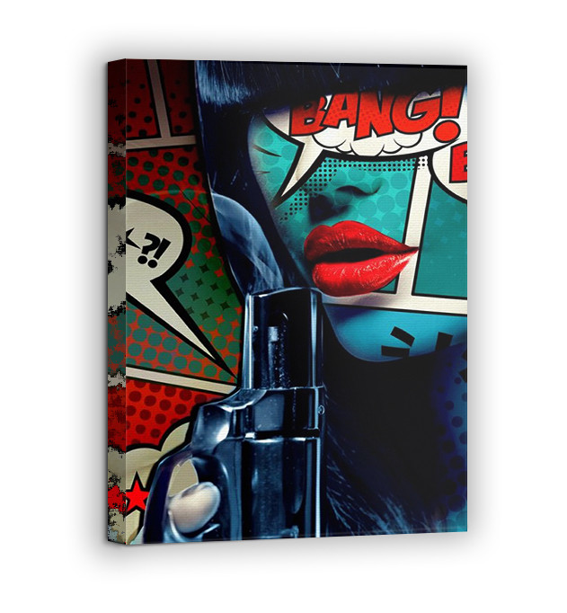 Картина на холсте BEGEMOT Pop-Art Девушки Галерейная натяжка 60х89 см (1110147)