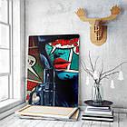 Картина на холсте BEGEMOT Pop-Art Девушки Галерейная натяжка 60х89 см (1110147), фото 3