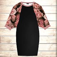 Умное платье с 3D принтом Нежные розы