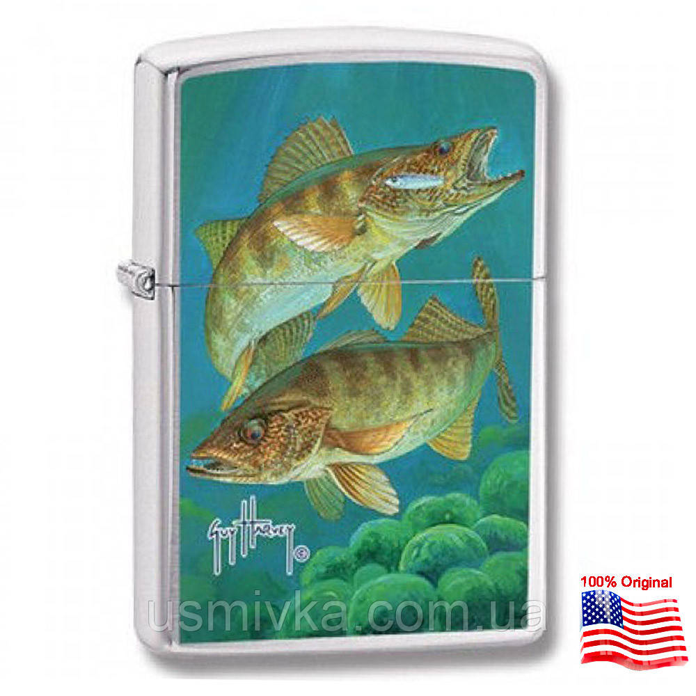 Зажигалка Zippo 24304 FISHING серая 24304