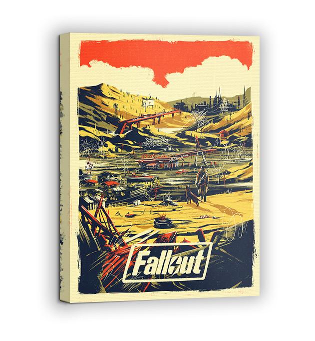 Картина на холсте BEGEMOT Fallout Галерейная натяжка 60х89 см (1110160)