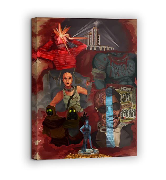 Картина на холсте BEGEMOT Fallout Галерейная натяжка 60х89 см (1110161)