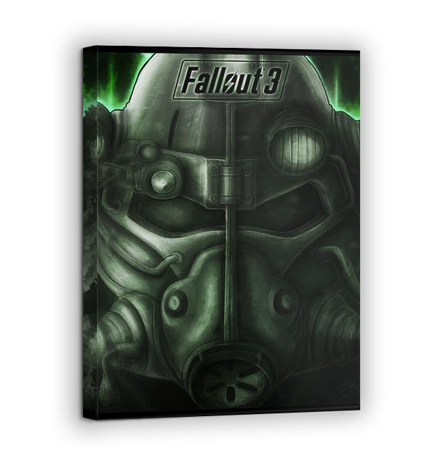 Картина на холсте BEGEMOT Fallout Галерейная натяжка 60х89 см (1110164)