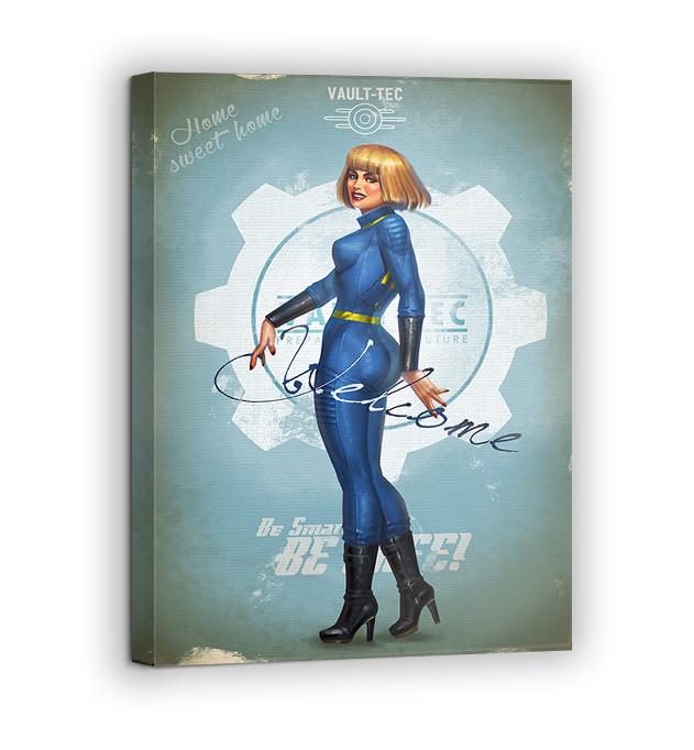 Картина на холсте BEGEMOT Fallout Галерейная натяжка 60х89 см (1110169)