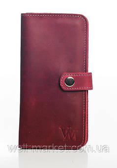 VM-Villomi Портмоне пурпурного цвета из гладкой кожи
