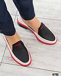 Гладкая кожа и флотар! Стильные кожаные туфли женские лоферы, фото 4