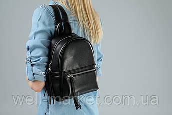 VM-Villomi Компактный черный женский рюкзак со змейкой