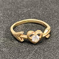 Золотое кольцо с фианитом 585 пробы, вес 1,54. Б/у. Наложенным платежом