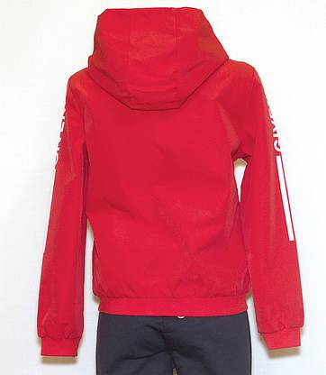 Вітровка червона з капюшоном (44-46), фото 3
