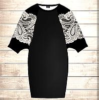 Умное платье с 3D принтом Ажур Элегант