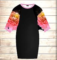 Умное платье с 3D принтом Big Rose
