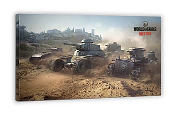 Картина на холсте BEGEMOT WOT Танки 1 уровня World of Tanks Галерейная натяжка 40х60 см (1110262)