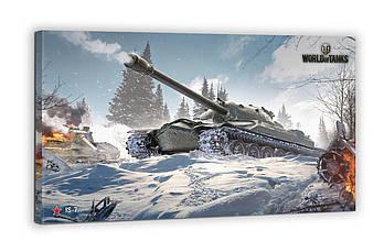 Картина на холсте BEGEMOT WOT Танк IS-7 ИС-7 World of Tanks Галерейная натяжка 40х60 см (1110263)