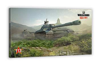 Картина на холсте BEGEMOT WOT Танк 113 World of Tanks Галерейная натяжка 40х60 см (1110264)
