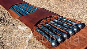 Кованые шампура в кожаном чехле