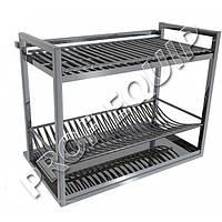 Полка для сушки посуды из нержавеющей стали (ДхШхВ) - 800x280x490