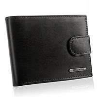 Чоловічий шкіряний гаманець Betlewski з RFID 12 х 9 х 3 (BPM-VTC-60) - чорний, фото 1