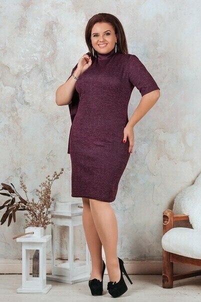 """Стильный комплект-двойка (Платье+Пиджак) ткань """"Трикотаж"""" 48 размер"""