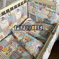 """Детское постельное бельё (8 предметов) """"Мишки с воздушными шариками"""" желтое, фото 1"""