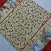 Готовий бавовняний рушник з ангелятами, вензелями і пасками 45х60 см