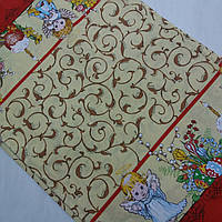 Готовое хлопковое полотенце с ангелочками, вензелями и пасками 45х60 см, фото 1