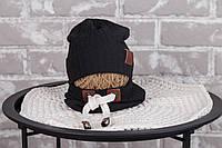 "Набір шапочка з снудом ""Hills"", чорний, размеры42-46, 46-50, 50-54"