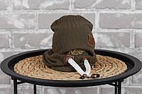 """Набір шапочка з снудом """"Hills"""", хакі, размеры42-46, 46-50, 50-54"""