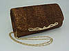 Женская сумка-клатч коричневая. (К514)
