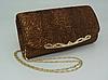 Жіноча сумка-клатч коричнева. (К514)