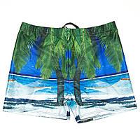 Мужские боксеры для купания с морем и пальмами (арт. 18-3) Синий