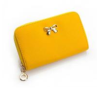 Женский кошелек желтый 0215, фото 1