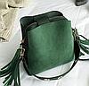 Женская сумка зеленая 0633
