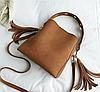 Женская сумка коричневая 1157