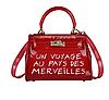 Женская сумка прозрачная красная 0666
