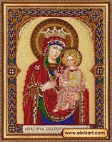 Набор для вышивки бисером на натуральном художественном холсте «Икона Богоматери «Скоропослушница»