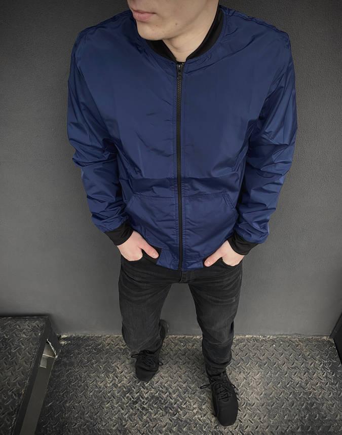 Бомбер синий мужской весенний осенняя куртка, фото 2