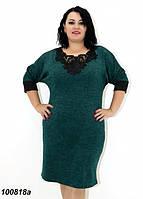 Платье женское с кружевом большого размера 58 60 62 64р