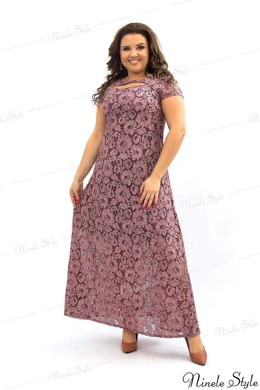 Гипюровое вечернее женское платья с открытой спиной 275-4 54