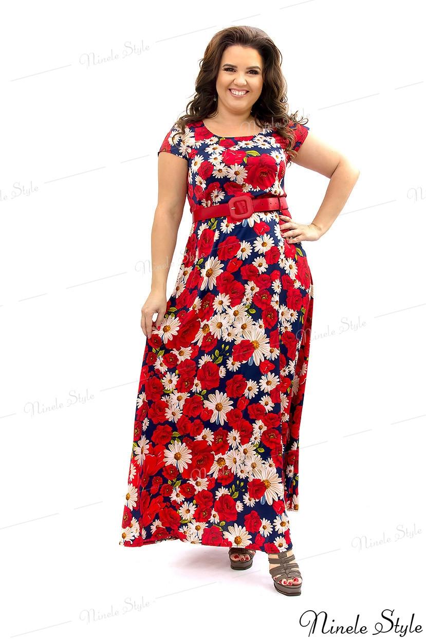 Шикарное женское платье с цветочным принтом из шёлка ARMANI 281-1 54